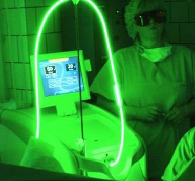 cirugía de próstata con terapia con luz verde con láser